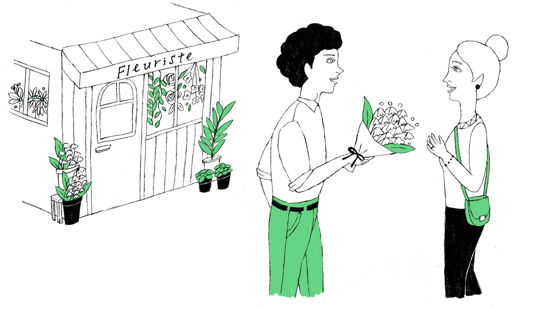 【フランス編】贈り物には、季節の花を